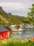 Αλιεία των σπιτιών στη Νορβηγία στοκ εικόνες με δικαίωμα ελεύθερης χρήσης