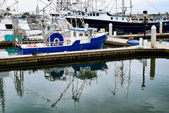 Αλιευτικά σκάφη προκυμαιών του Σαν Ντιέγκο Στοκ Εικόνες
