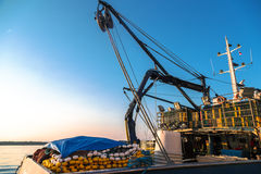 Αλιευτικά σκάφη σε ένα λιμάνι Στοκ εικόνες με δικαίωμα ελεύθερης χρήσης