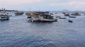 Αλιευτικά σκάφη στον κόλπο Botafogo, Ρίο ντε Τζανέιρο απόθεμα βίντεο