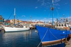 Αλιευτικά σκάφη στο λιμάνι του Χόμπαρτ Στοκ Εικόνα