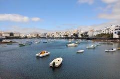 Αλιευτικά σκάφη στο λιμάνι Arrecife στο ισπανικό νησί Lanzarote Στοκ φωτογραφίες με δικαίωμα ελεύθερης χρήσης