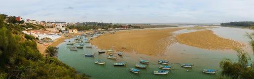 Αλιευτικά σκάφη Moulay Bousselham λιμνοθαλασσών, Μαρόκο Στοκ φωτογραφία με δικαίωμα ελεύθερης χρήσης