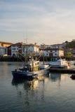 Αλιευτικά σκάφη Saint-Jean de Luz στο λιμάνι Aquitaine, Γαλλία στοκ φωτογραφία με δικαίωμα ελεύθερης χρήσης