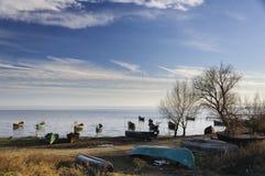 Αλιευτικά σκάφη Sarichio Στοκ φωτογραφίες με δικαίωμα ελεύθερης χρήσης