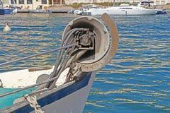Αλιευτικό σκάφος, σκάφος εν εξελίξει για να ελλιμενίσουν τα ψάρια εδάφους Στοκ Εικόνες