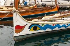 Αλιευτικό σκάφος, Vittoriosa, Μάλτα Στοκ Εικόνες