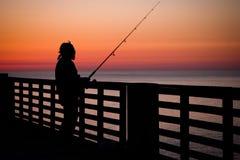 Αλιεύοντας αποβάθρα Στοκ Φωτογραφία