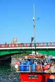 Αλιεύοντας αλιευτικό πλοιάριο και βάρκα, Weymouth Στοκ φωτογραφία με δικαίωμα ελεύθερης χρήσης