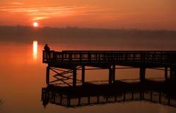 Αλιεύοντας γέφυρα Στοκ φωτογραφίες με δικαίωμα ελεύθερης χρήσης