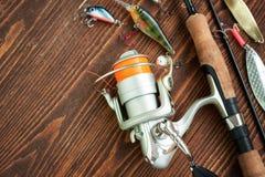 Αλιεύοντας εξοπλισμοί και αλιευτικό εργαλείο στοκ εικόνες με δικαίωμα ελεύθερης χρήσης