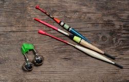 Αλιεύοντας εξοπλισμός και δόλωμα Στοκ Εικόνες