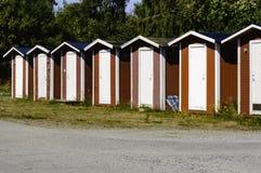 Αλιεύοντας καμπίνες Στοκ φωτογραφίες με δικαίωμα ελεύθερης χρήσης