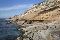 Αλιεύοντας καλύβες, παραλία Comte  Ibiza Στοκ φωτογραφία με δικαίωμα ελεύθερης χρήσης