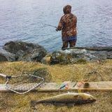 αλιεύοντας Νορβηγία Στοκ φωτογραφία με δικαίωμα ελεύθερης χρήσης