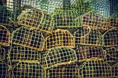 Αλιεύοντας παγίδες Στοκ Φωτογραφίες