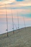 αλιεύοντας ράβδοι Στοκ Φωτογραφίες