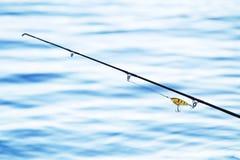 Αλιεύοντας ράβδος και εξοπλισμός Στοκ Φωτογραφίες