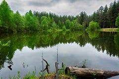 Αλιεύοντας ράβδος Στοκ Φωτογραφία