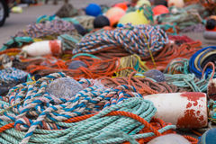 Αλιεύοντας σχοινιά και εξοπλισμός Στοκ Εικόνα