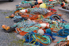 Αλιεύοντας σχοινιά και εξοπλισμός Στοκ εικόνα με δικαίωμα ελεύθερης χρήσης