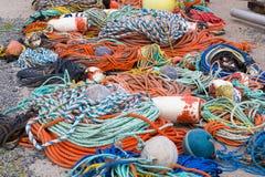 Αλιεύοντας σχοινιά και εξοπλισμός Στοκ εικόνες με δικαίωμα ελεύθερης χρήσης