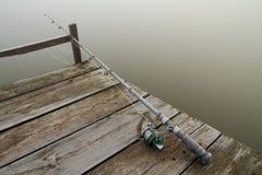 Αλιεύοντας τη ράβδο που παγώνουν Στοκ Εικόνα