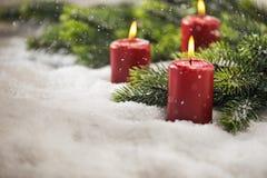 3$α κεριά εμφάνισης Στοκ Φωτογραφίες