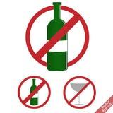 αλκοόλη κανένα σημάδι Στοκ Φωτογραφίες