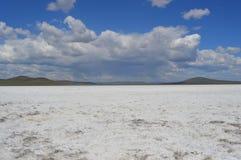 Αλμυρή λίμνη ουρανών Στοκ φωτογραφίες με δικαίωμα ελεύθερης χρήσης