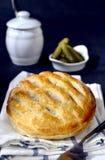 Αλμυρή πίτα δικτυωτού πλέγματος Flakey Στοκ φωτογραφίες με δικαίωμα ελεύθερης χρήσης