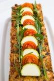 Αλμυρό κέικ με τα λαχανικά Στοκ Φωτογραφία