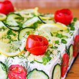 Αλμυρό κέικ σάντουιτς (SmörgÃ¥stÃ¥rta) στοκ εικόνες