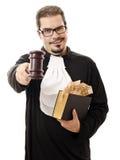 Αλλοιώστε το δικαστή με τα χρήματα και το νόμο στοκ φωτογραφίες