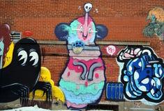 Αλλοδαπός του Μόντρεαλ τέχνης οδών Στοκ Εικόνα