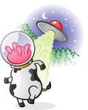 Αλλοδαπός χαρακτήρας κινουμένων σχεδίων αγελάδων Στοκ φωτογραφίες με δικαίωμα ελεύθερης χρήσης
