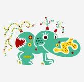 Αλλοδαπό μικρό hippo ιών UFO βακτηριδίων ουσίας πλασμάτων τεράτων Στοκ φωτογραφίες με δικαίωμα ελεύθερης χρήσης