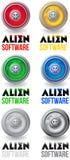 Αλλοδαπό λογότυπο λογισμικού απεικόνιση αποθεμάτων