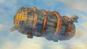 αλλοδαπό ufo σκαφών Στοκ εικόνα με δικαίωμα ελεύθερης χρήσης
