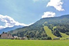 Αλπική κλίση Παγκόσμιου Κυπέλλου σε Podkoren, Σλοβενία Στοκ Φωτογραφία