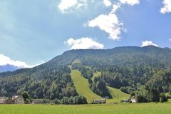 Αλπική κλίση Παγκόσμιου Κυπέλλου σε Podkoren, Σλοβενία Στοκ φωτογραφίες με δικαίωμα ελεύθερης χρήσης