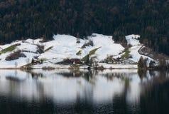 αλπική σκηνή Ελβετία Στοκ Εικόνες