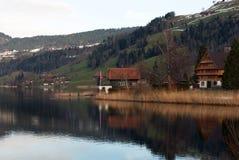 αλπική σκηνή Ελβετία Στοκ εικόνα με δικαίωμα ελεύθερης χρήσης