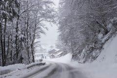 Αλπική χειμερινή ημέρα Στοκ Εικόνες