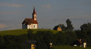 αλπικό παρεκκλησι Στοκ φωτογραφία με δικαίωμα ελεύθερης χρήσης