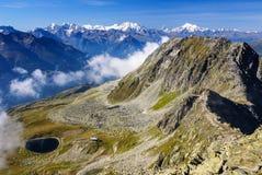 Αλπικό τοπίο βουνών Άλπεων σε Jungfraujoch, κορυφή της Ευρώπης Sw Στοκ Εικόνες