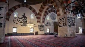Αδριανούπολη, Τουρκία - 19 Απριλίου 2014: Εσωτερικό του παλαιού μουσουλμανικού τεμένους Eski Cami στη Αδριανούπολη Στοκ εικόνες με δικαίωμα ελεύθερης χρήσης