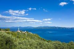 Αδριατική θάλασσα Κροατία Ευρώπη Στοκ Φωτογραφία