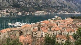 αδριατική θάλασσα Μαυροβούνιο παλαιά πόλη kotor στοκ φωτογραφία