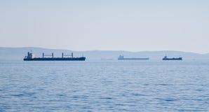 Αδριατική θάλασσα με διάφορα σκάφη στον ορίζοντα Στοκ φωτογραφίες με δικαίωμα ελεύθερης χρήσης